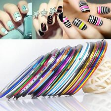 10/30/50 Rolls Mixed Colors Striping Tape Line Nail Art Tips Decoration Sticker