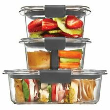 Rubbermaid Brilliance 6-Piece Sandwich/Snack Storage Container Set