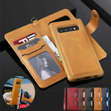 For Samsung Galaxy Note 10+ Plus S10 S9 Removable Leather Flip Wallet Case Cover