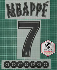 2019-2020 PSG away MBAPPE #7 name number SET + Ligue 1 champion PATCH + OOREDOO