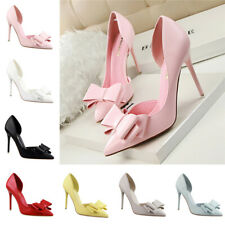 Ladies Sweet Bow-Knot Stiletto Pumps Women Party High Heels Shallow Shoes Office