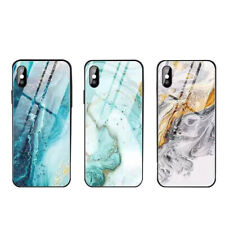 For Apple iPhone X XS XR Max 10 8 7 6s 6 Cover Luxury Glass Tempered Case Marble