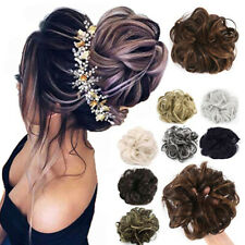 2pcs Curly Messy Bun Hair Piece Scrunchie Natural Chignon Updo Hair Extensions