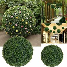 Artificial Boxwood Grass Ball Topiary Outdoor Indoor Fake Plant Hanging Decor