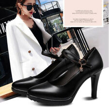 Women's Wedding Shoes Pointed Toe Ankle Strap Stiletto Ladies High Heel Pumps