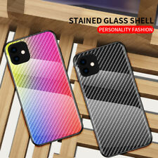 Gradient Tempered Glass Back Case Cover For iPhone 11 Pro Max XR XS X 8 7 Plus
