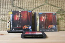 The king of Fighters 96 w/box ram cartridge reg Sega Saturn SS Japan VG-!