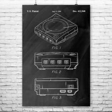 SEGA Dreamcast Console Poster Print Gamer Gift Video Game Art Game Store Art