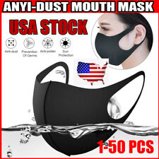 1-50pcs Breathable Recycle Anti-dust Washable Reusable Face Mouth Cover US