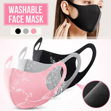 3pcs Face Mouth Nose Cover Washable Breathable Anti Dust Reusable Ice Silk