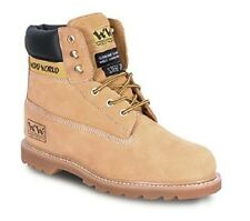WOOD WORLD WW4T-P STEEL TOE WORK SAFETY BOOTS - HONEY