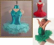 New METALLIC Tutu Dance Ballet Costume CHOOSE COLOR &SZ