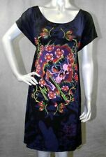 ED HARDY Women's Beautiful Ghost Dress Tunic  Black