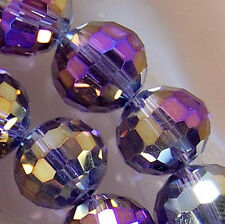 7x8mm Faceted Rainbow AB Crystal Rondelle Beads 36pcs