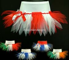 CHEERLEADING TUTU MINI SKIRT~ FLAG PARTY~FANCY DRESS ~WORLD CUP FOOTBALL PAGEANT