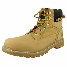 Mens Caterpillar Stickshift Honey Leather Lace Up Boots