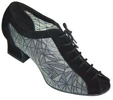 Ladies Dance Shoes Jive Tango Latin Salsa Line UK 3 - 8