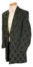 MENS GREEN BROCADE FROCK COAT WEDDING DRESS FROCKCOAT 38 40 42 44 46