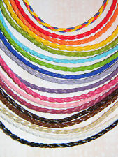 Genuine Leather Braided Necklace Cords Choose from Multiple Colors