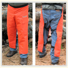 Apron Style Chainsaw Chaps Protective, Saftey orange