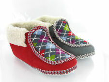 WOMENS NORDIC SLIPPERS WARM KNIT SHERPA BOOTS SIZE 3-8