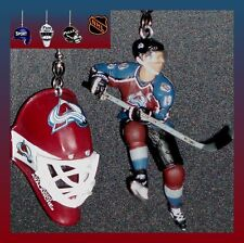 NHL HOCKEY COLORADO AVALANCHE CEILING FAN PULLS SET- CHOICE OF FIGURES & MASK