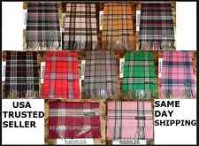 NEW 100% CASHMERE SOFT WINTER SCARF Tartan Nova Check Plaid Scotland WARM Wool