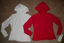 Bal Togs Red White Long Sleeve Dance Jazz Hip Hop Hooded Top Shirt Adult S M L