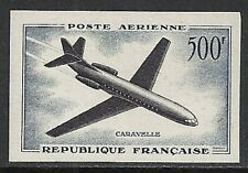 France 1957 YV Airmail 36a IMPERFORATED  MNH  VF