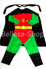 Robin Superhero Costume Cosplay Outfit Halloween Fancy Party Kid Size 2T-7 FC007