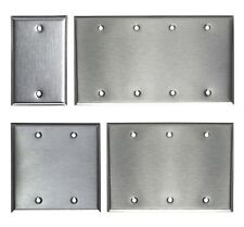 BLANK STAINLESS STEEL WALL COVER PLATE 1 2 3 4 GANG