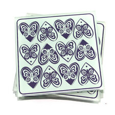 GLASS PUZZLE COASTERS DRINKS MATS x4