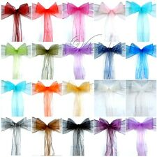 50PCS Organza Chair Sashes Bow Wedding Cover Banquet