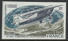 France 1977 YV Airmail 50a IMPERFORATED  MNH  VF