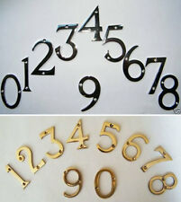 """House Numbers Solid Brass or Polished Chrome 3"""" / 75mm Numerals House Gate Door"""