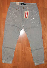 Levi 513 Hitchhiker Stripped Boyfriend Slouch Jeans
