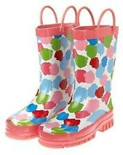 GYMBOREE BURST OF SPRING WATERCOLOR DOTS RAIN BOOTS 9 10 11 12 13 1 2 NWT-OT