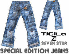Ticila SEVEN STAR Special Edition Jeans Handmade Pants