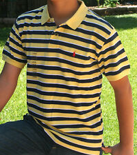 NWT Polo Ralph Lauren Boys Stripe Mesh shirts. SS Medium