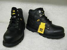 Caterpillar Grouser ST Black Leather Steel Toe Cap Lace Up Work Boots