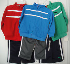 PUMA NWT Infant Boys 2PC Track Suit Jacket Pants Top Zip Warm Up 12 18 24 m