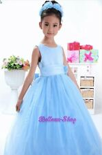 Tulle Formal Dress Gown Wedding Flower Girls Pageant Communion Size 12m-8 FG059