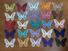40 PEARLESCENT SHIMMER 5cm Butterfly Wedding Table Confetti Topper MANY COLOURS