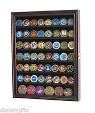 56 Bullion/Military Challenge Coin Display Case Cabinet Wall Rack, w/Door Coin56