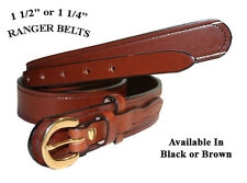 "1 1/4"" WIDE AMISH HAND MADE RANGER BELTS - 3 STYLES"