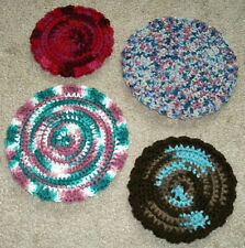 NEW Handmade Crochet ROUND Table CENTERPIECES DOILIES Assorted Colors & Sizes