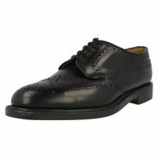 Loake Braemar Black Leather Traditional Brogue Shoes