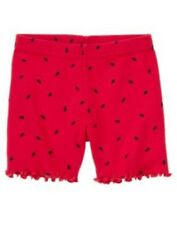 GYMBOREE BURST OF SPRING RED STRAWBERRY BIKE SHORTS 3 6 12 18 24  2T 3T 4T NWT