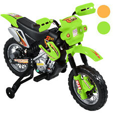 KIDS RIDE ON CAR-MOTORCYCLE NEW ELECTRIC 6V BATTERY TOY in green-red-yellow