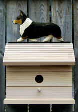 Bird House W/ Welsh Corgi Pembroke on Peak. Home,Yard & Garden Dog Products.